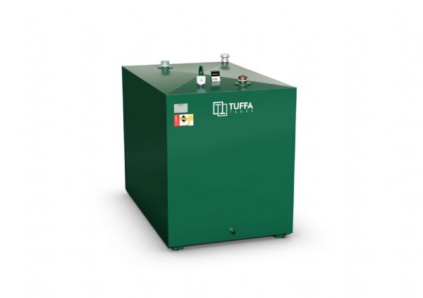 1800  Litre Steel Bunded Oil Tank - Fire Protected